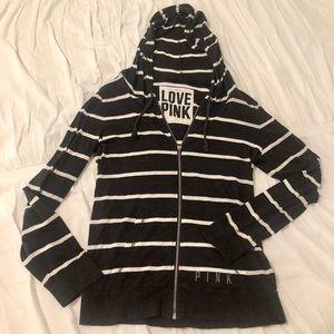 PINK Victoria's Secret striped hoodie